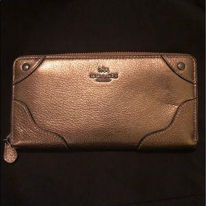 NWT Genuine Leather Bronze Coach Wallet